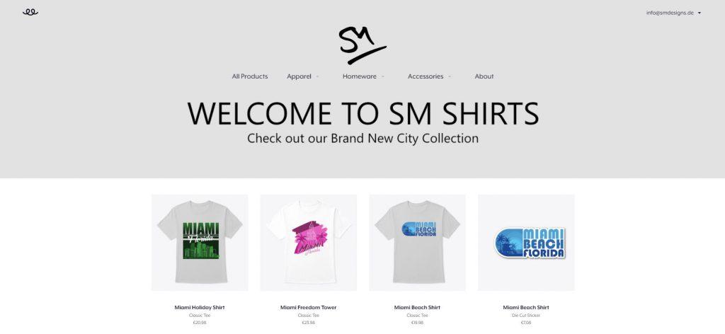 T-Shirt Business Shopfront