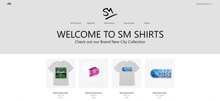 T-Shirt Business Shopfront